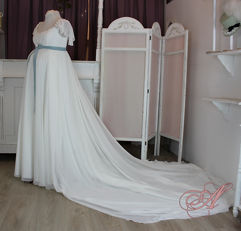 Robe de mariée de grossesse collection Marie-Anne Pierrette Paulze