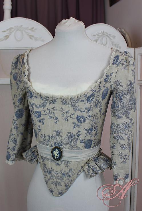Buste corseté collection Rose Bertin revisitée