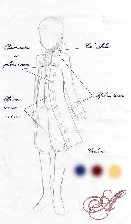 Acompte tenue homme inspiration 18éme siècle