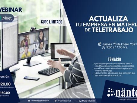 """Webinar """"Reformas laborales en teletrabajo"""""""