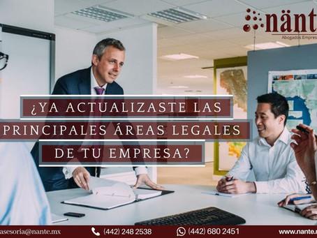 ¿Ya actualizaste las principales áreas legales de tu empresa?