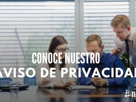 Conoce nuestro aviso de privacidad
