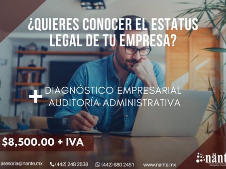 ¿Quieres conocer el estatus legal de tu empresa?