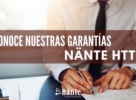 Conoce la garantía Nänte HTTP