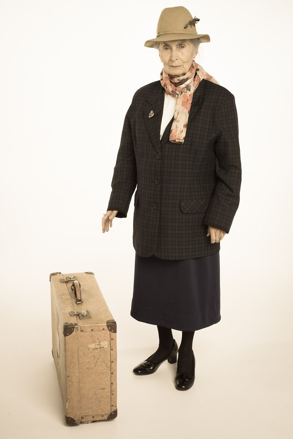 Mum's Friend Susan models for a travel book called 'Broads Abroad - Worldly Wise.'