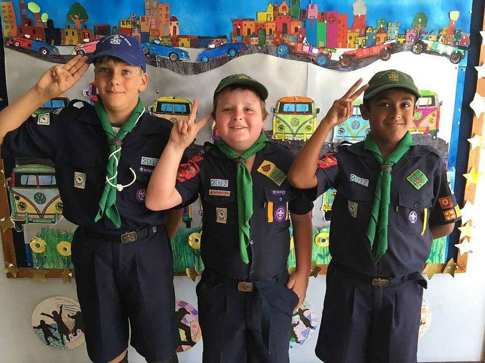Cubs and Scouts at Muizenberg Junior