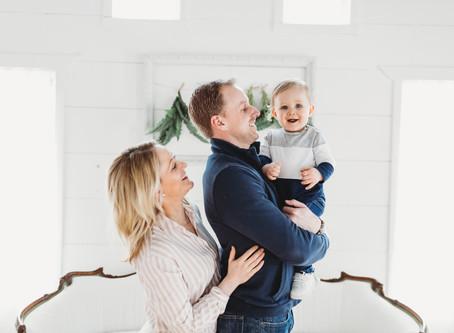 Minneapolis Family Studio Photographer | Justin, Kate & Jack