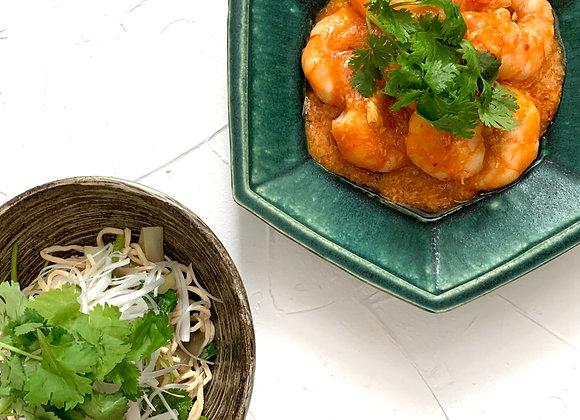 海老のチリソース&干し豆腐の和え物