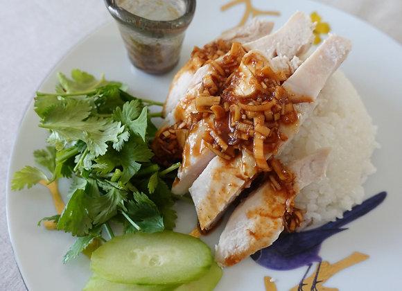 タイ風さつま揚げ/海老と春雨の蒸し煮/カオマンガイ