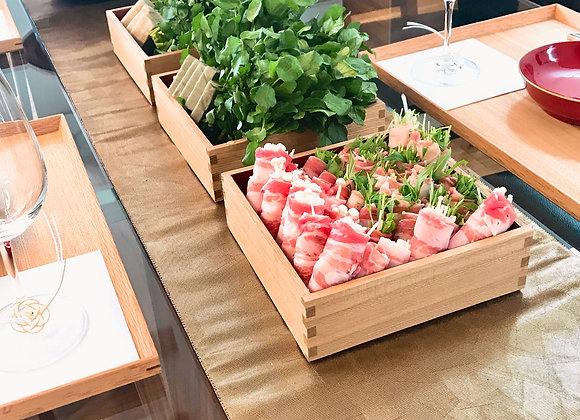 豚巻きしゃぶしゃぶ(2種のタレ)&コンテオニオンサラダ