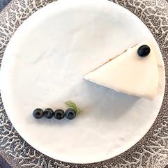 ブルーベリーのレアチーズケーキ/クリスマス