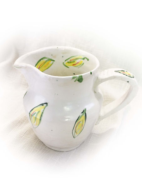 White jug with citrrus pattern cropped.j