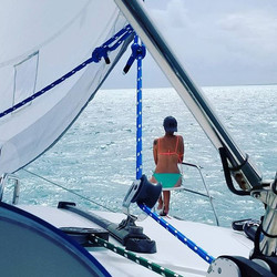 #bowrider #easyliving nothing stops her from riding the bow