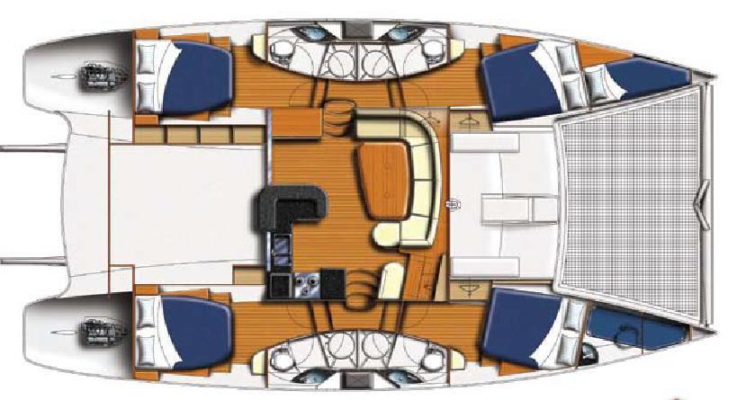 Leopard 46 4 cabin layout