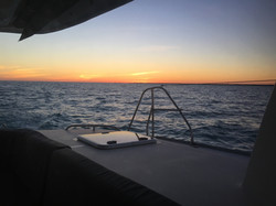 sunsets on the sea