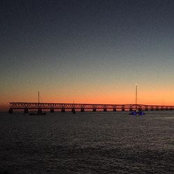 Beautiful pic of The Space Between at sunset in Bahia Honda anchorage taken by a very thoughtful cam