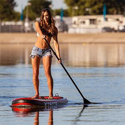 paddleboarding calm ocean