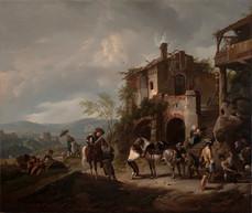 Philips Wouwerman, The Blacksmith Shop