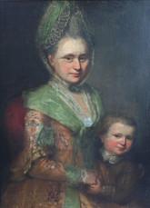 Anton Graff, Karoline Auguste Von Poenickau & Son Friedrich