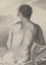 """Eugene Delacroix  """"Study of a Woman's Back"""""""