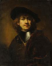 Rembrandt van Rijn, Self Portrait of Rembrandt with Gorget and Cap