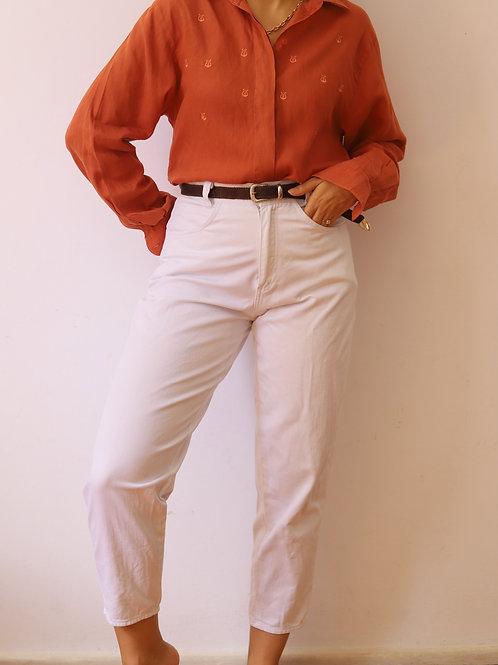 mom jeans white