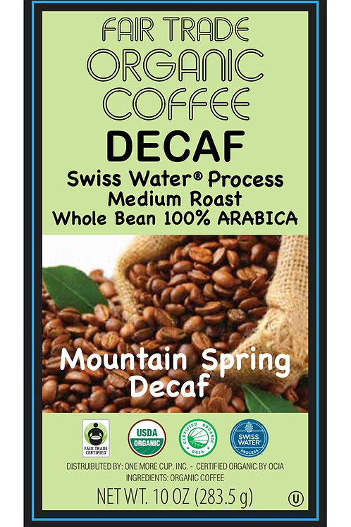 Mountain SpringDecaf Blend 5 lb. (whole bean)