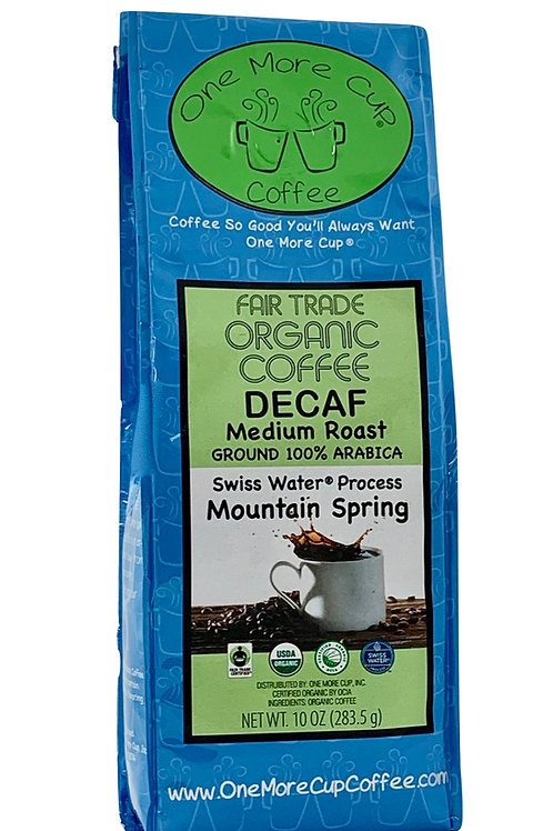 Mountain Spring Decaf Blend 10 oz. (ground)
