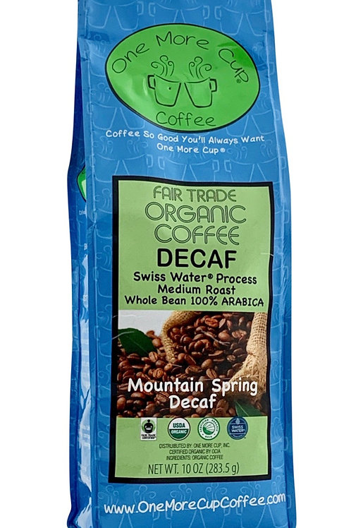Mountain Spring Decaf Blend 10 oz. (whole bean)