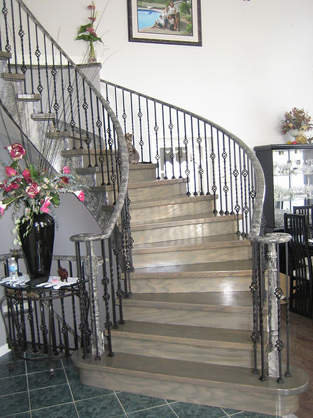 Iron railing stairs