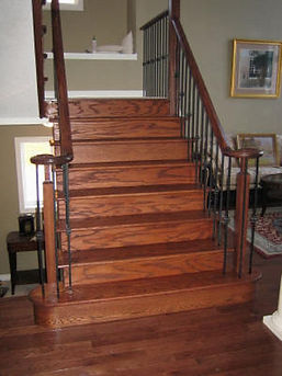 Change carpeted stairs to hardwood or laminate