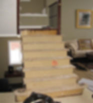 Change carpeted stairs to hardwood or laminate