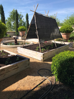 shade cloth gardens cedar beds