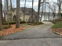 lakefront driveway before