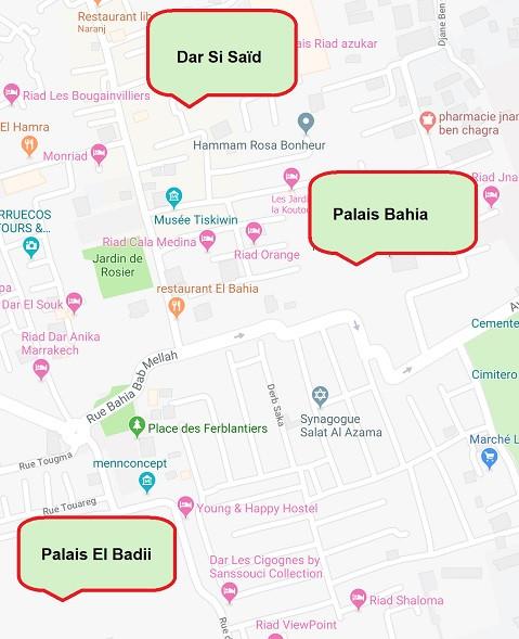 Plan des visites proposées