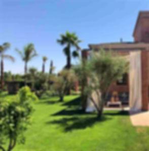 LOCATION SAISONNIERE MAROC et location villa Marrakech pour un séjour destiné aux vacanciers et aux golfeurs, la Maison Palma Marrakech est une villa avec piscine et services hoteliers.