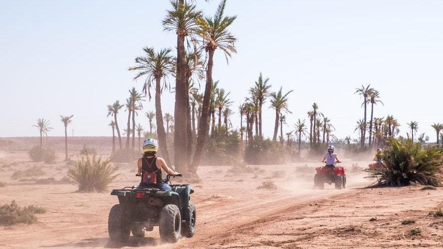 Quad dans la palmeraie de Marrakech