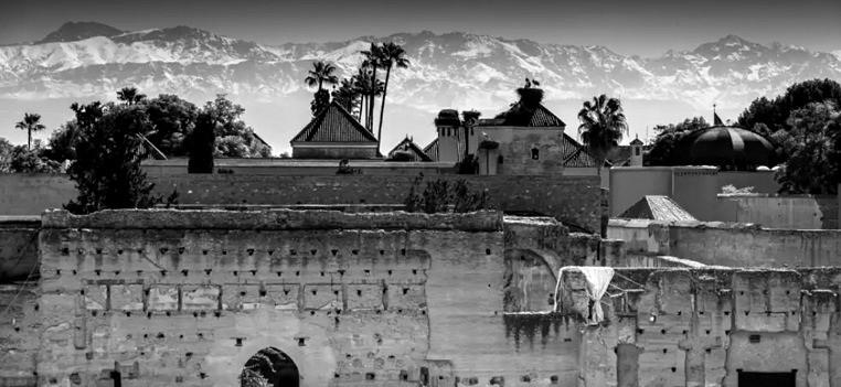 Vue des ruines du palais El Badi