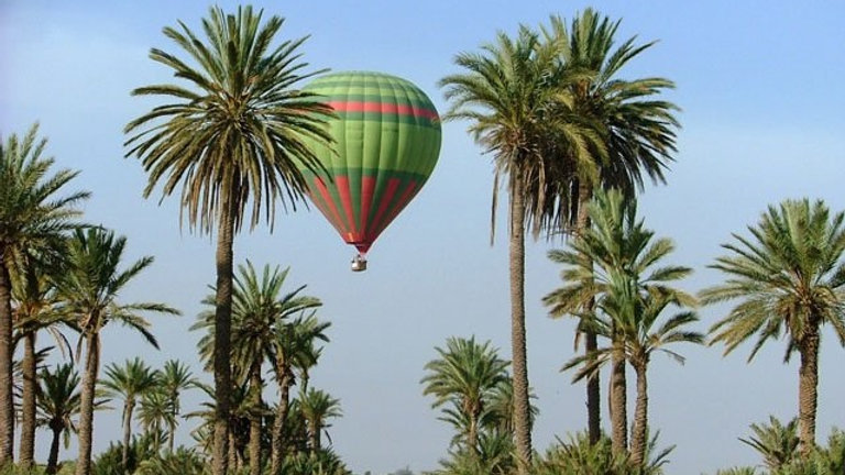 vol en ballon gonflable marrakech