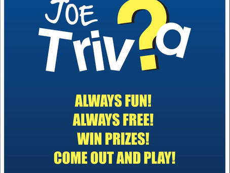 Joe Trivia comes to the Taphouse!