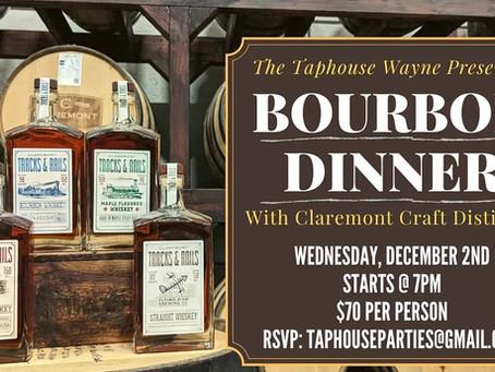 Bourbon Dinner with Claremont Distillery!