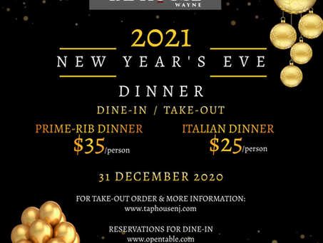 New Year's Eve Dinner w/ The Taphouse
