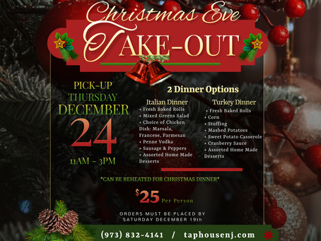 Cater your Christmas Dinner with The Taphouse