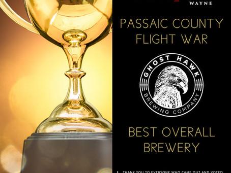 The Winner of the Passaic County Flight War is...