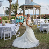 ocean-isle-beach-wedding-bride-in-garden