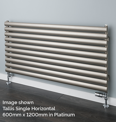 Tallis Single Horizontal 600 x 1000 (2296 BTU's) in Platinum