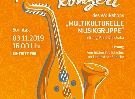 03. November | Konzert und Lesung interkulturelle Musikgruppe