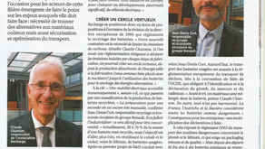 """Article """"Officiel des transporteurs"""" September 2019"""