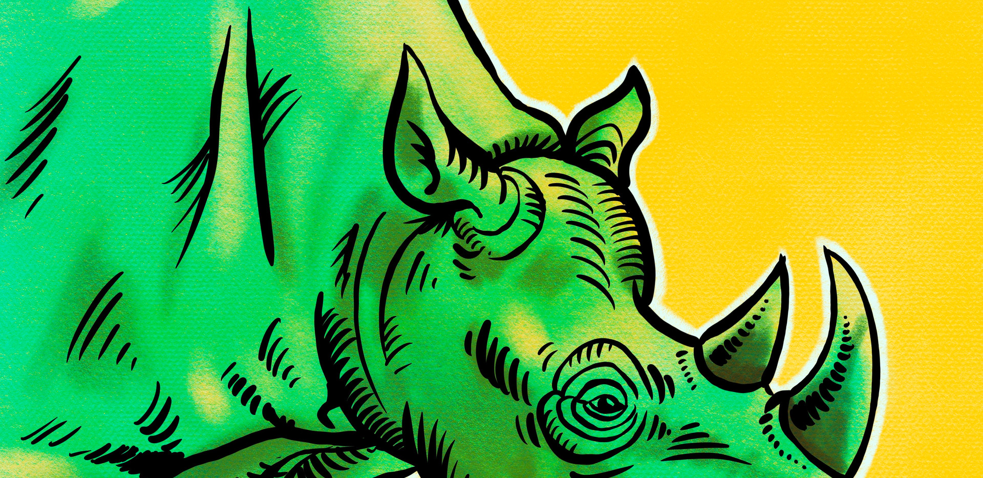 Joseph Grice Rhino Digital Illustration