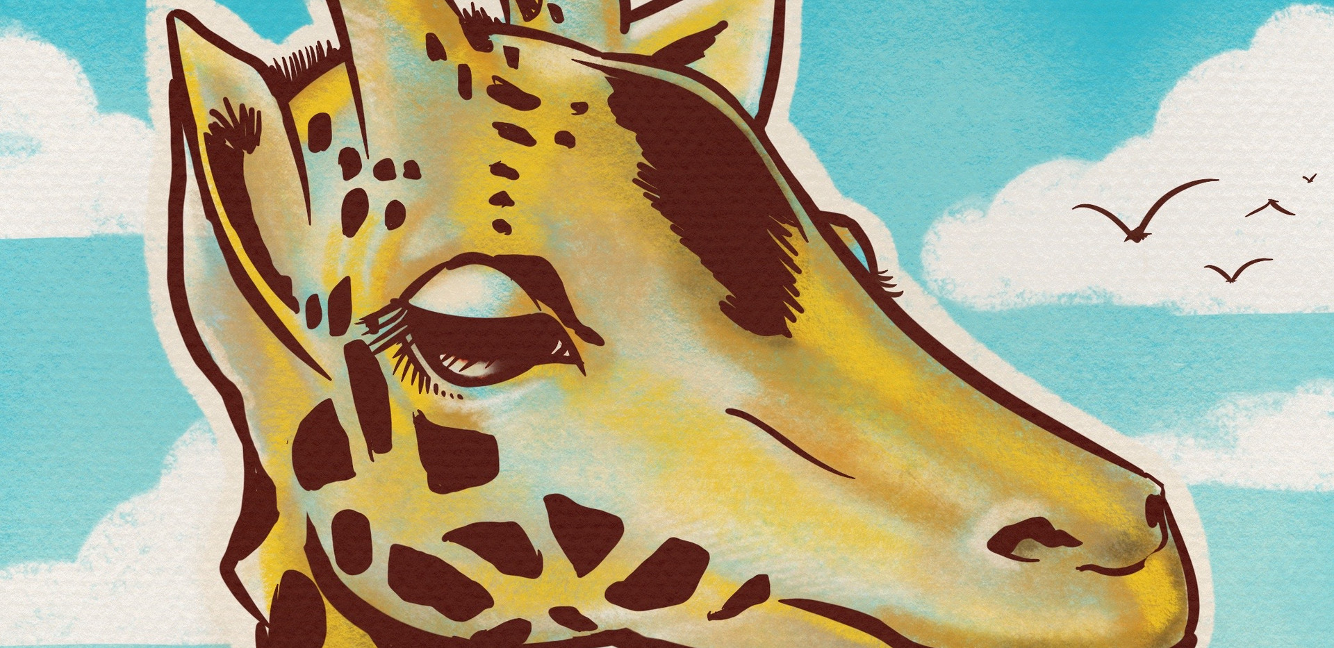 Joseph Grice Giraffe Digital Illustration